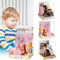 DIY Doll House Wooden Miniature Dollhouse Furniture Kit Educational Toys