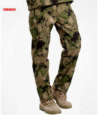 Men Outdoor Shark Skin Cargo Pants waterproof Military Hunting Soft Shell trouse