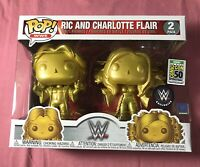 Funko Pop WWE 2-Pack Ric & Charlotte Flair SDCC/WWE Debut Official Sticker