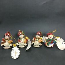Giftcraft Polyresin Snowmen Ornaments Lot of 4