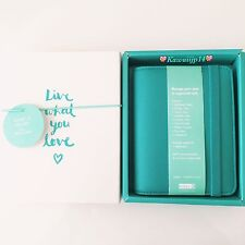 Kikki K 2016 LEATHER TIME PLANNER SMALL: TEAL