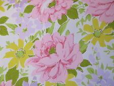 1960s 1970s Floral Pattern Original VINTAGE Wallpaper Floral, VG Condition