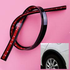 118cm Black Car Fender Flare Extension Wheel Eyebrow Moulding Trim Protector Lip