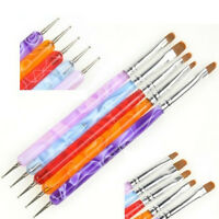 5PCS 2 Way Dotting Manicure Tools Painting Pen Brush Nail Art Paint WF