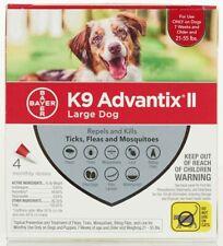 K9 Advantix II 4-pk Dogs 21-55 Lb (red)*FREE SHIPPING*100% EPA/USA APPROVED*