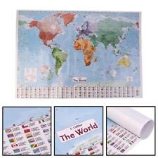 MAP OF THE WORLD LAMINATED LARGE POSTER WITH FLAGS WALL DECOR PRINT