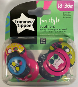 Tommee Tippee BPA-Free Soothers 18-36m, Fun style, Pink