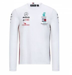 2020 Mercedes-AMG F1 Lewis Hamilton Long Sleeve Driver T-Shirt Tommy Hilfiger