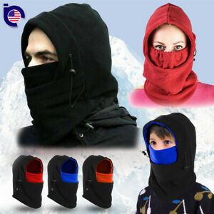 Men Women Kids Winter Fleece Balaclava Hat Beanie Snow Ski Neck Face Mask Hood