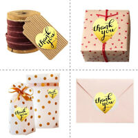 500 thank you stickers mini diy craft gold heart shaped lables wedding favourC!C
