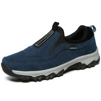 Men's Slip on Hiking Shoes Outdoor Loafers Breathable Climbing Casual Sneakers