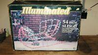 "ILLUMINATED 54"" SLEIGH ~ Christmas Yard Decor"
