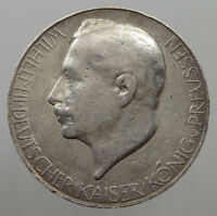 GERMANY SILVER MEDAL WILHELM II 1914 33MM 18G   #ou 199
