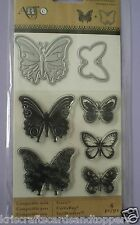 Hero Arts ~ BUTTERFLY ~ STAMP and DIE Set  ~ 8 piece ~ NEW