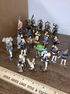 20 + French Foreign Legion Mounted  Lead Tin Plastic Hand Painted 54mm 1/32