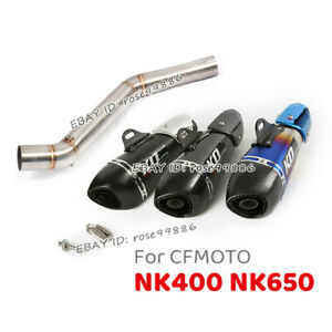 For CF-Moto 400NK 650NK Slip On Exhaust Muffler Pipe Link Middle Connect Pipe