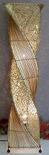 Stehlampe Afrika Leuchte Lampe Bambus Natur Tischleuchte Tischlampe Orient Neu
