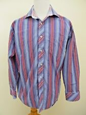Tommy Hilfiger Mens Shirt Vintage Button Down Long Sleeve 80's 2 Ply Fabric J01