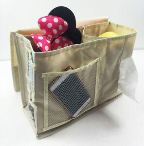 Beige 6 Pockets Sofa Bed Bedside Storage Mattress Holder Book Remote Caddy