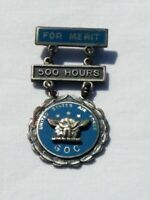 Antique United States Air Force GOC For Merit 500 Hours Pinback