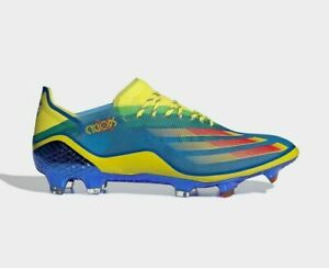 adidas Soccer MARVEL X GHOSTED.1 FIRM GROUND BOOTS FY1223 Blue Bright Yellow