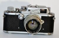 "NON-WORKING! RARE USSR ""ZORKI 3"" LEICA COPY CAMERA + JUPITER-8 lens, f2/50mm"