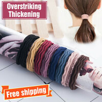 5X Elastic Rubber Hair Ties Band Rope Ponytail Holder Resilience Seamless Simple