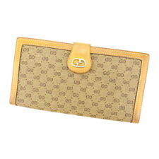 Gucci Wallet Purse Long Wallet G logos Brown Woman Authentic Used D1290