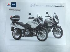 Moto Suzuki V strom 650 pubblicita brochure depliant motorcycles prospect VSTROM