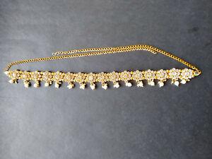 Ethnic Waist Traditional Gold Tone Indian Chain Jewelry Kamar Bandh Hip Belt
