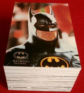 BATMAN RETURNS - COMPLETE BASE SET (100 Cards) - Topps Stadium Club - 1992