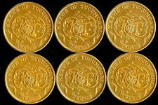 6 Krewe Of Tucumcari Mardi Gras Doubloons BR LA 1947-1997 Golden Anniversary