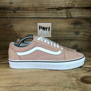 VANS Old Skool Women's Pink/White Suede Lace Up Skateboard Trainers Shoes UK7.5
