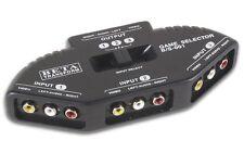 CONMUTADOR SELECTOR PARA AUDIO Y VIDEO 3 ENTRADAS RCA 1 SALIDA RCA BD1402