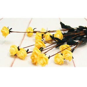 15 Heads Silk Rose Artificial Flowers Fake Bouquet Home Party Decor ornament