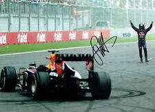 Sebastian VETTEL SIGNED Red Bull World Champion 16x12 F1 Photo AFTAL COA