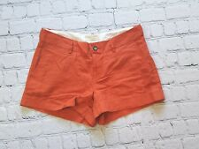 Banana Republic Martin Fit Orange Linen Shorts Sz 6