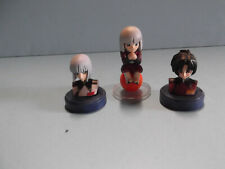 """#B743 Unknown Anime 3 Mini Bust Like figures around 1.5""""in tall"""