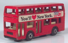 "Matchbox Leyland Titan Double Decker Bus New York 3"" 1:124 Scale Model USA TWA"