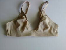 HANES SOFT CUP DEMI WIREFREE 34B BEIGE BRA USED OUNCE EXCELLENT C.