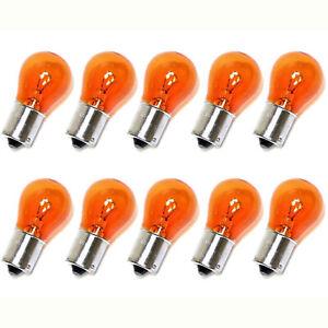 (Box of 10) 1156NA 12V Amber Park Parking Back Up Tail Light Signal Lamps Bulbs