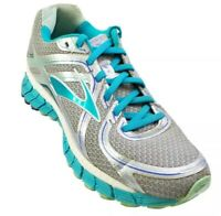 Brooks Adrenaline GTS 16 Womens Size 8.5 Running Shoes Gray Turquoise