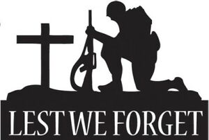 lest we forget army war vinyl wall art sticker graphic poppy day in memory of