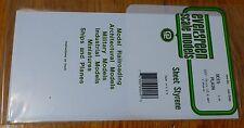 """Evergreen Styrene #9015 Styrene 3 Sheets Plain - 6 x 12"""" 15.2 x 30.5cm -- .015"""""""