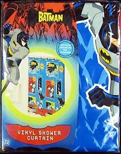 DC COMICS BATMAN BAT MOBILE VINYL SHOWER CURTAIN BRAND NEW HUGE 70 X 72  - 12211
