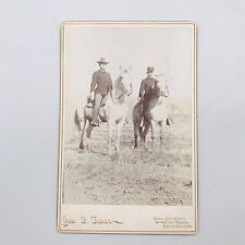 Antique 1880's Two Soldiers On Horseback Cabinet Photo 8th Cavalry Fort Meade