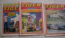 3 x Vintage Tiger Scorcher Comics 24 July 76, 1 July 78, 4 Oct 80