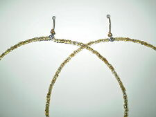 Earrings Hoop Glass Gold Beads Gold Plated No Stone Handmade GB USA New
