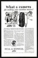 1920s Original Vintage Filmo 75 Art Deco Movie Camera Print Ad