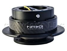 NRG Quick Release Steering Wheel Hub Kit - Black w/ Carbon Fiber Ring - Gen 2.5